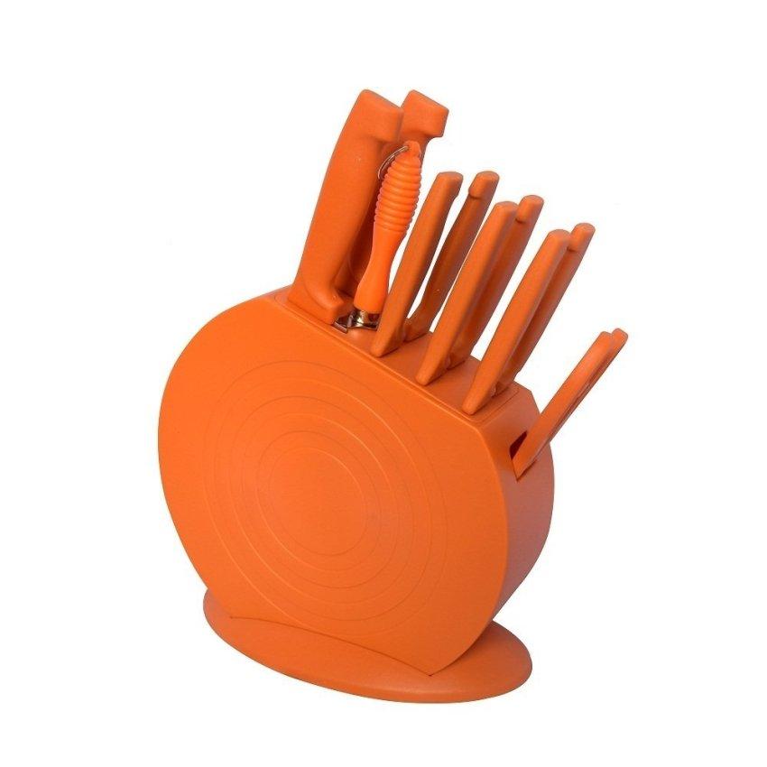 Mibacle blade 13 piece knife set black lazada ph for Kitchen set orange