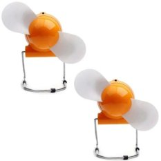 Youngkee USB Mini Fan Set of 2 (Orange)