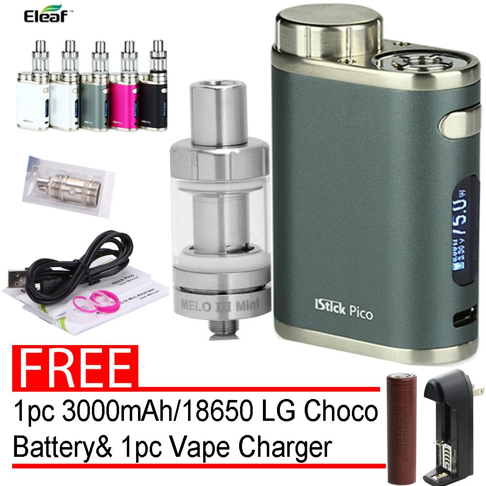 Eleaf Istick Pico Smok Starter Kit E-Cigarette Vape 75W vape (Grey) With