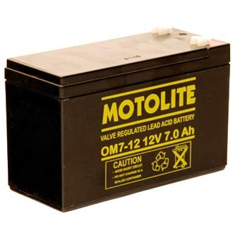 Motolite Ups Battery 12v 7ah 20hr Om7-12 12 Volts 7 Ampere Rechargeable Valve Regulated Lead Acid (vrla) Battery For Ups, Solar, Toy Cars, E-Bike, Emergency Light, Inverter (12 Months Warranty) By Arnaiz Electronics.