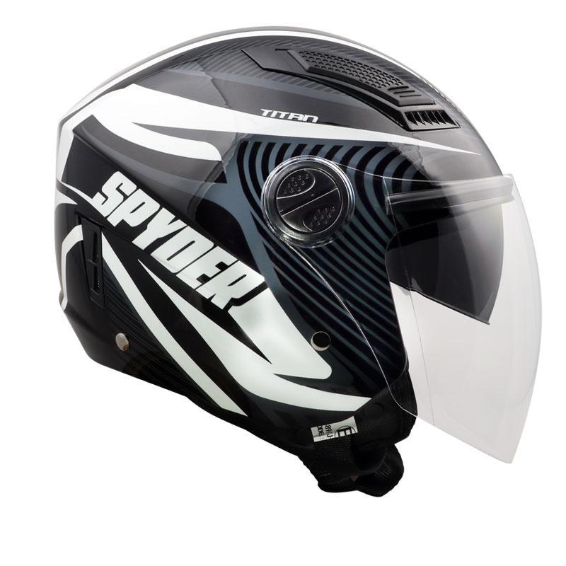 1d9255e3c11 Spyder Open-Face Helmet with Dual Visor Titan GD Series 1 (Luminous Series)