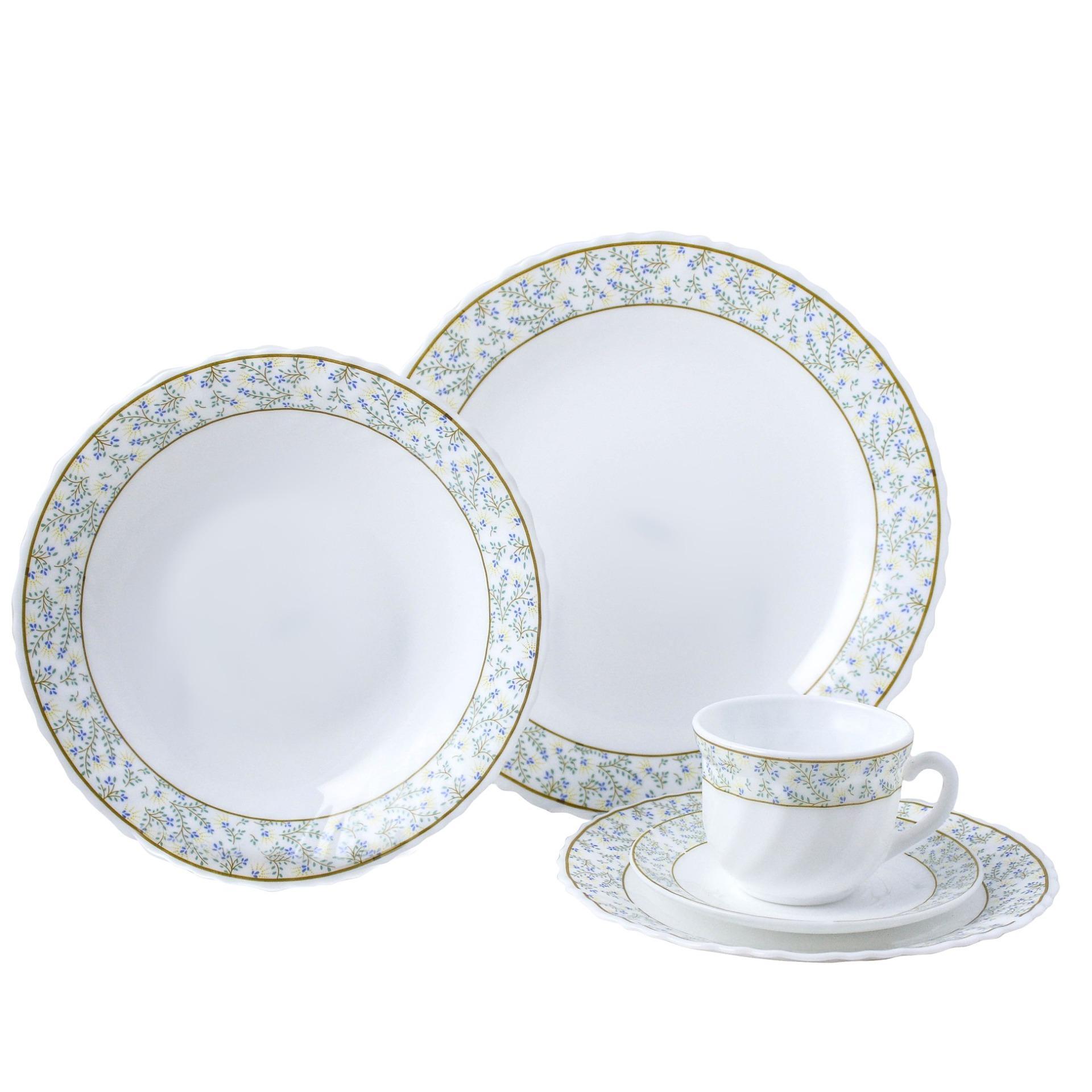 Masflex10 Piece Opal Dinner Set-Goldline By Masflex Cookware And Kitchenware.