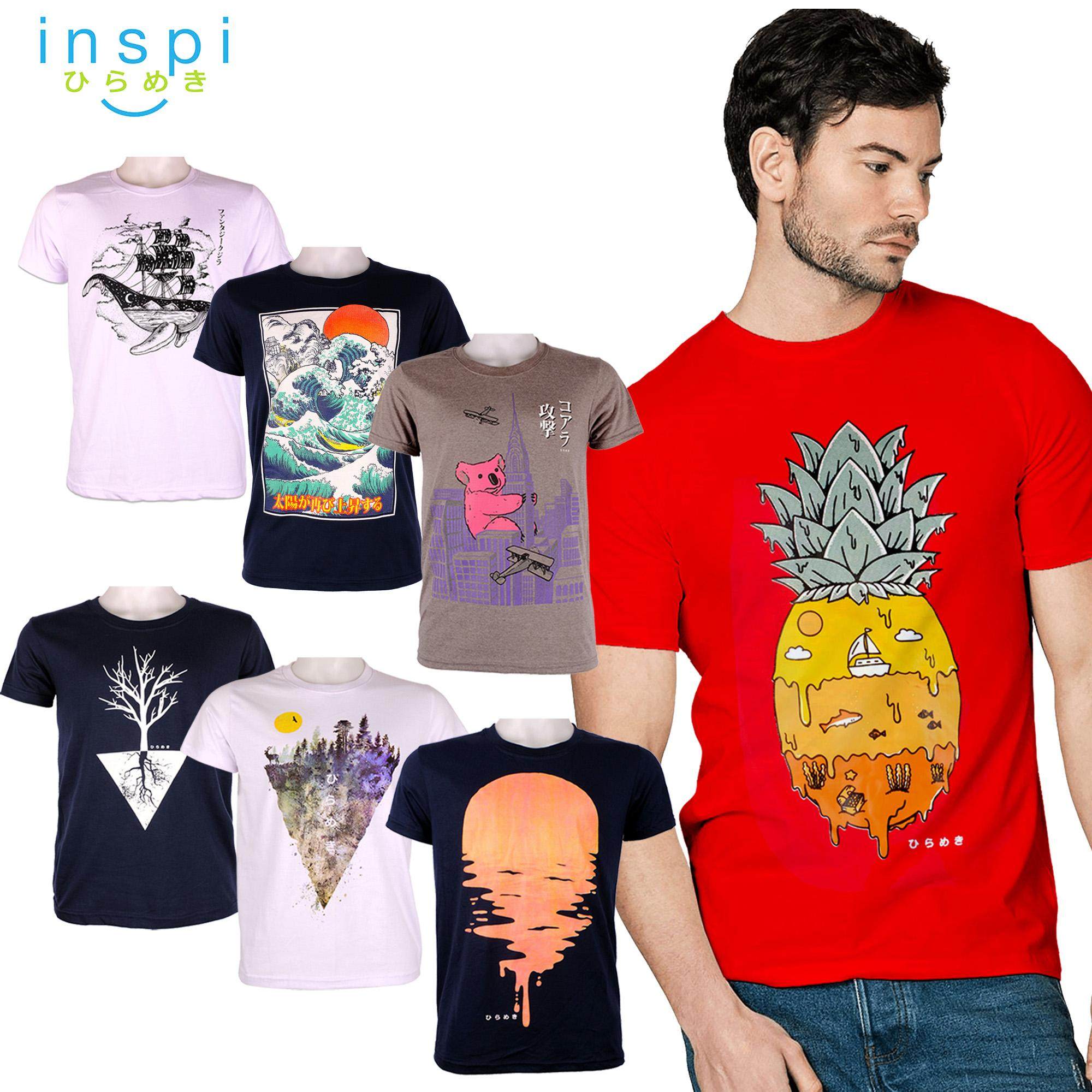 f3b1eb7ca9 INSPI Tees Nature Collection tshirt printed graphic tee Mens t shirt shirts  for men tshirts sale