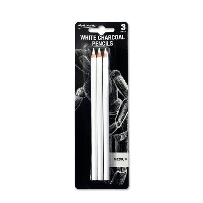 Mont Marte White Charcoal Pencil Sketch Pen
