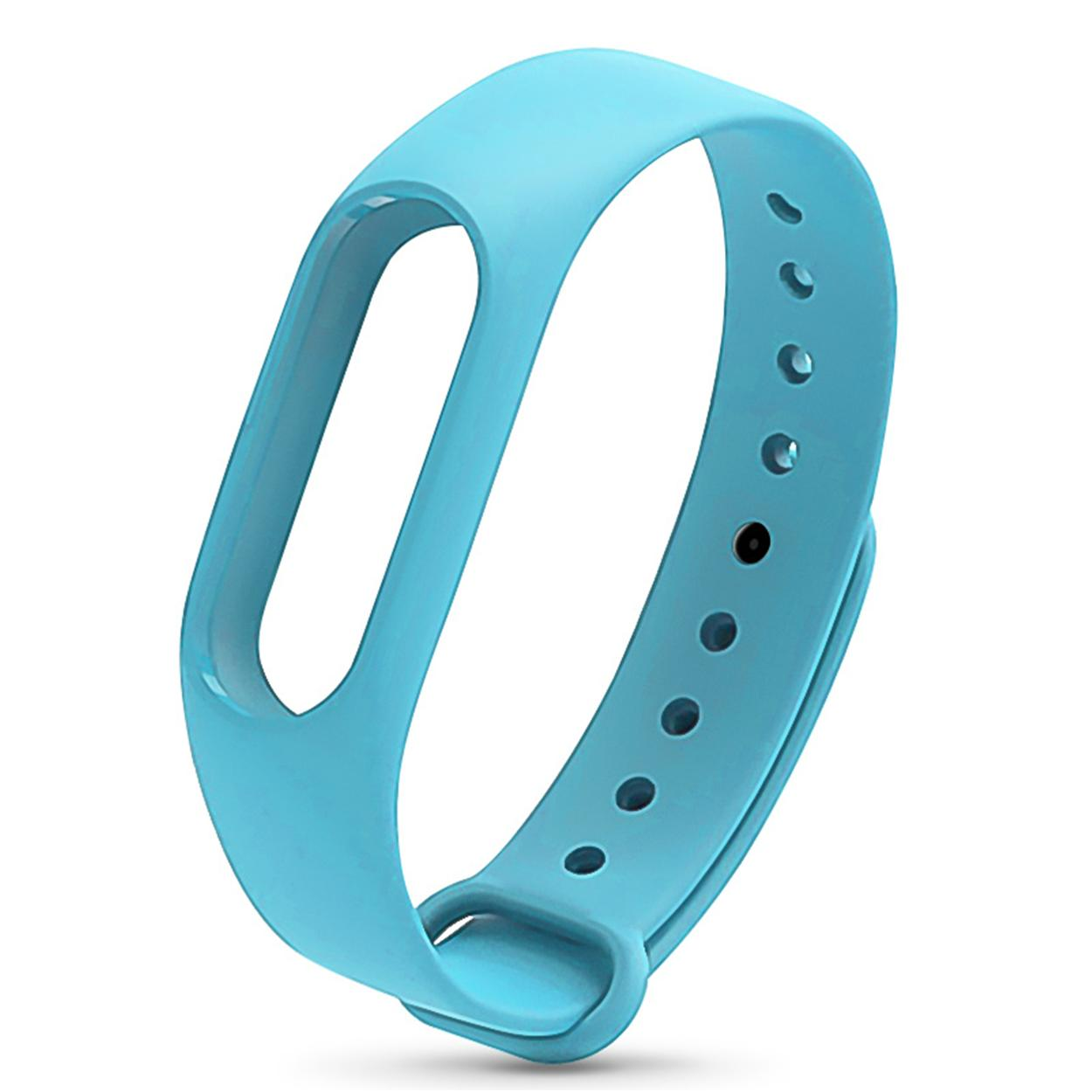 Xiaomi Mi Band 2 Replacement Jelly Watch Band Wrist Strap (sky Blue) By Hellotronics.