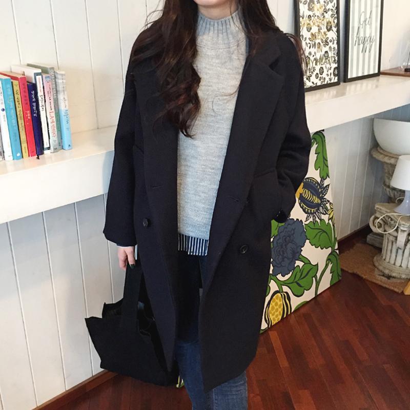 6336f9b23f7f9 Caidaifei 2018 Autumn And Winter New Style Korean-style women Wear Woolen Jacket  Slim Fit