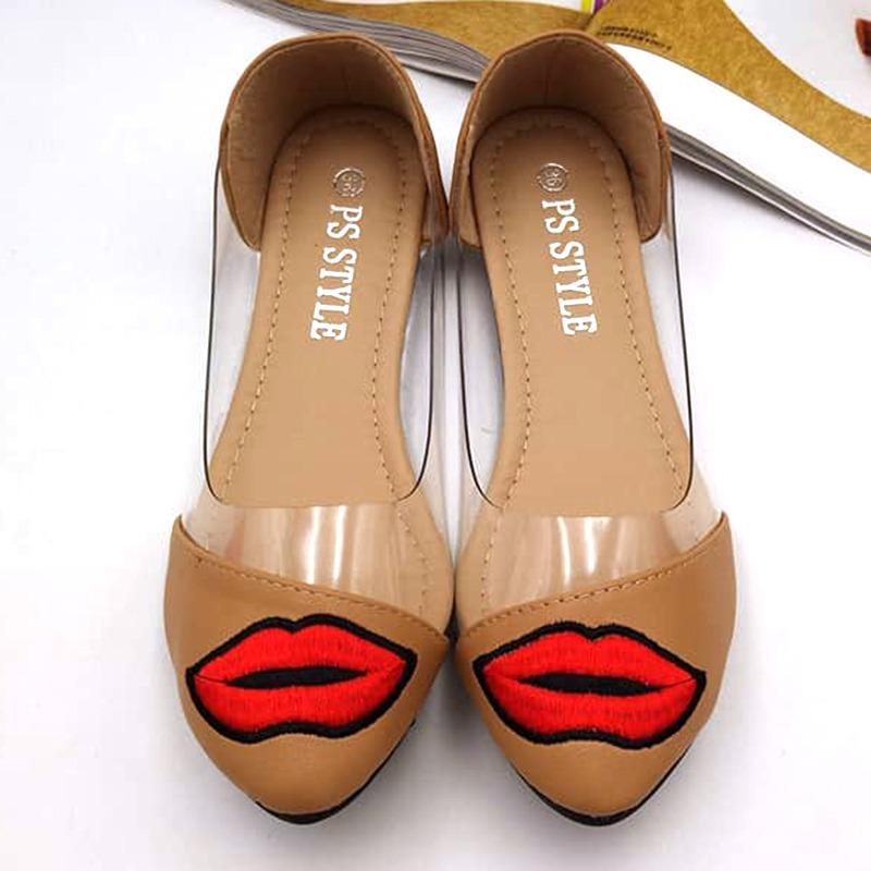 Fantasy Ladies Pointed With Lips Design Doll Shoes 339-11 (camel)