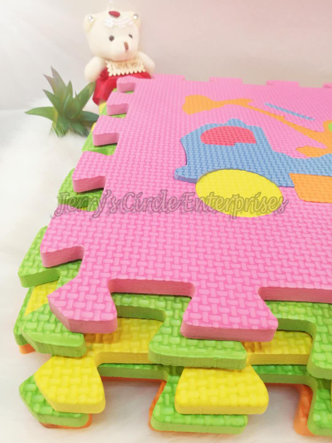Ptr-17 Baby Crawling Mat / Vehicle Design 30x30 Puzzle Mat 9 In 1 Jce By Baby Centre By Jce.