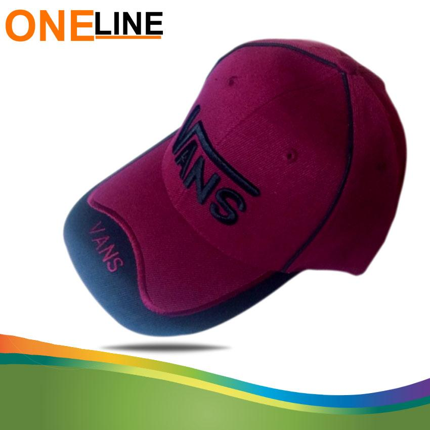 85eae8e926b Oneline Vansdesign Baseball Caps Embroidery Black Hip Hop Bone Hats