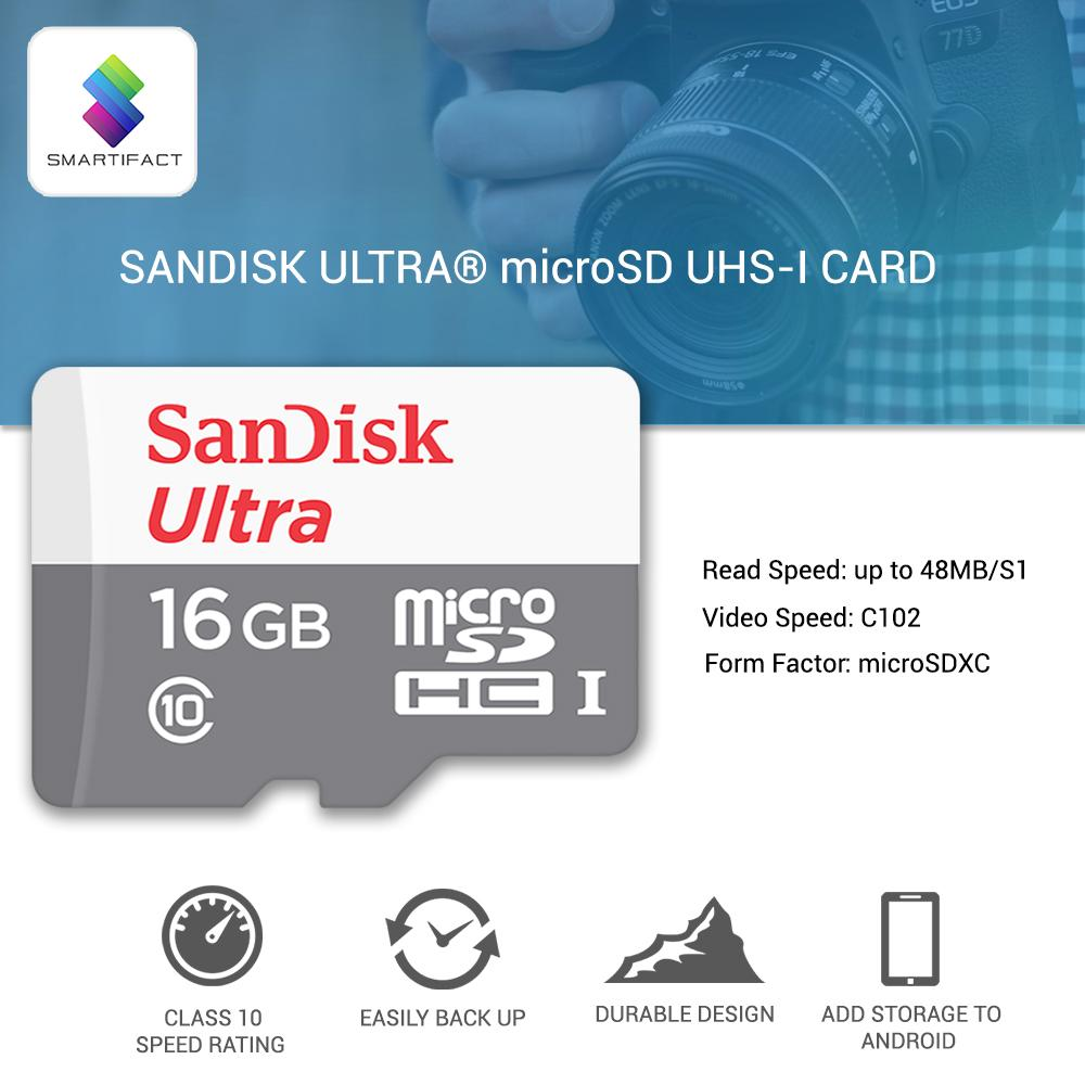 Sandisk Ultra Micro Sdhc Speed 48mb S Uhs I Card 8gb Buy Sell Cheapest Sd Best Quality Product Deals 16gb Memory Smartifact