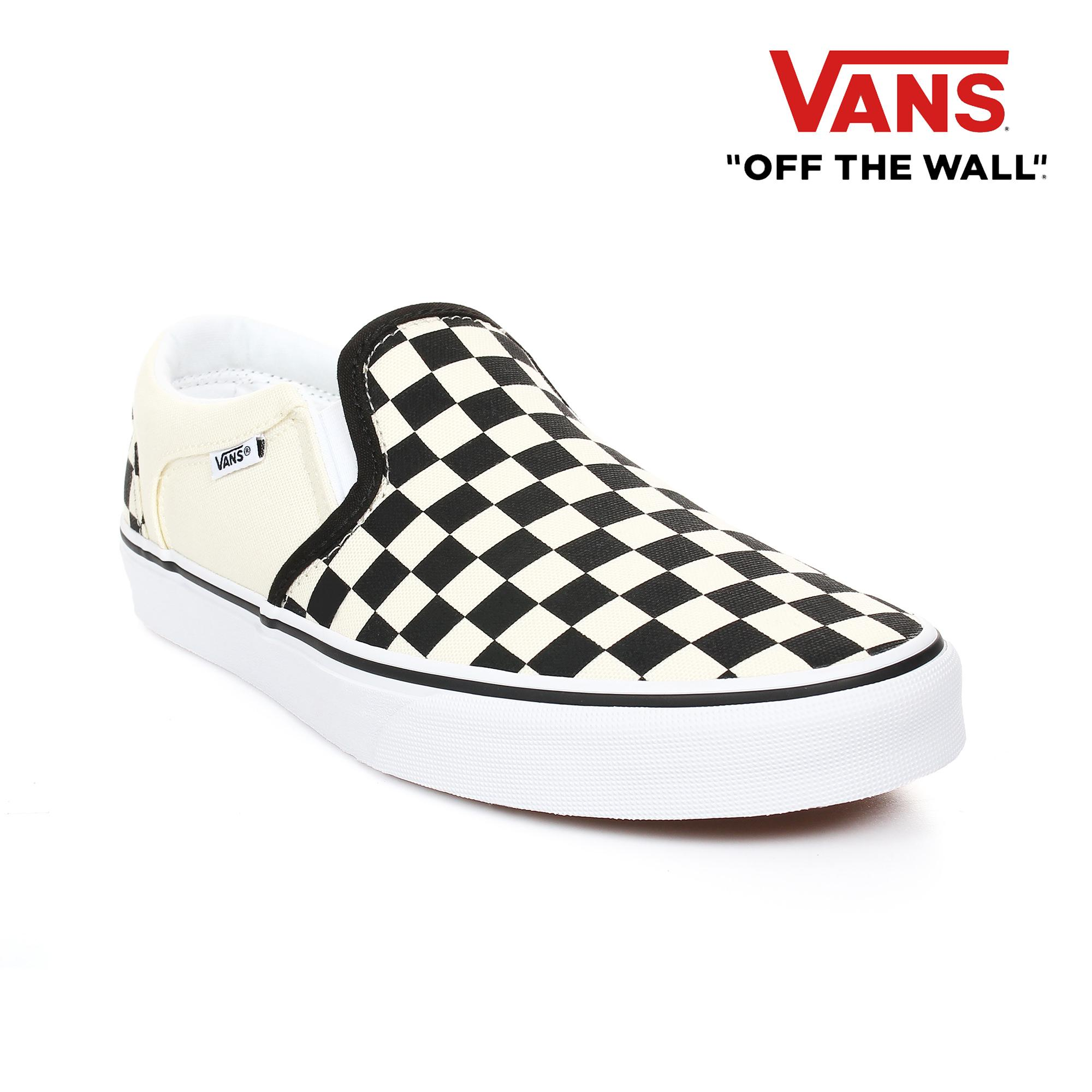1d1f27492fbf2 Vans Men's Asher Checkers Canvas Sneakers
