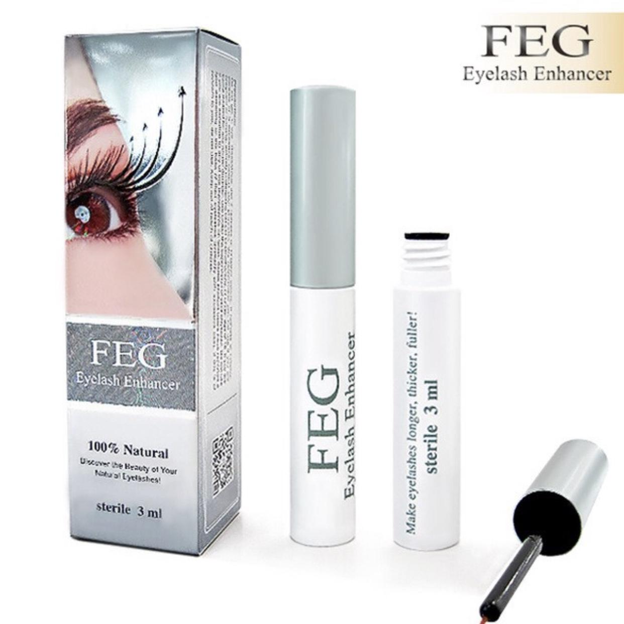 FEG Eyelash Enhancer Eye Lash Rapid Growth Serum Liquid 100% Natural 3ml US Philippines