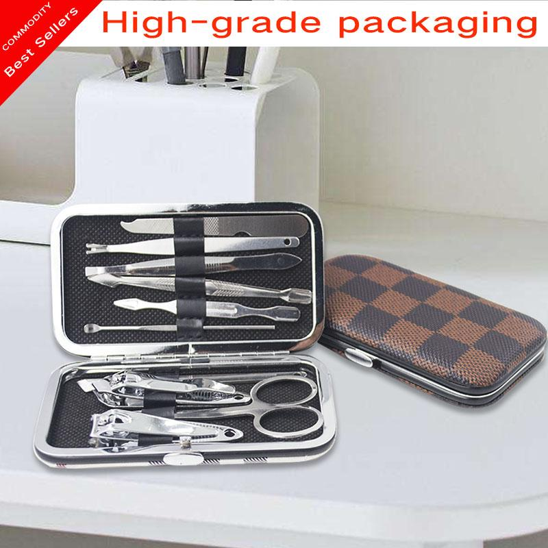 10Pcs Stainless Steel Nail Clipper Nipper Cutter Pedicure Manicure Tools Set Philippines