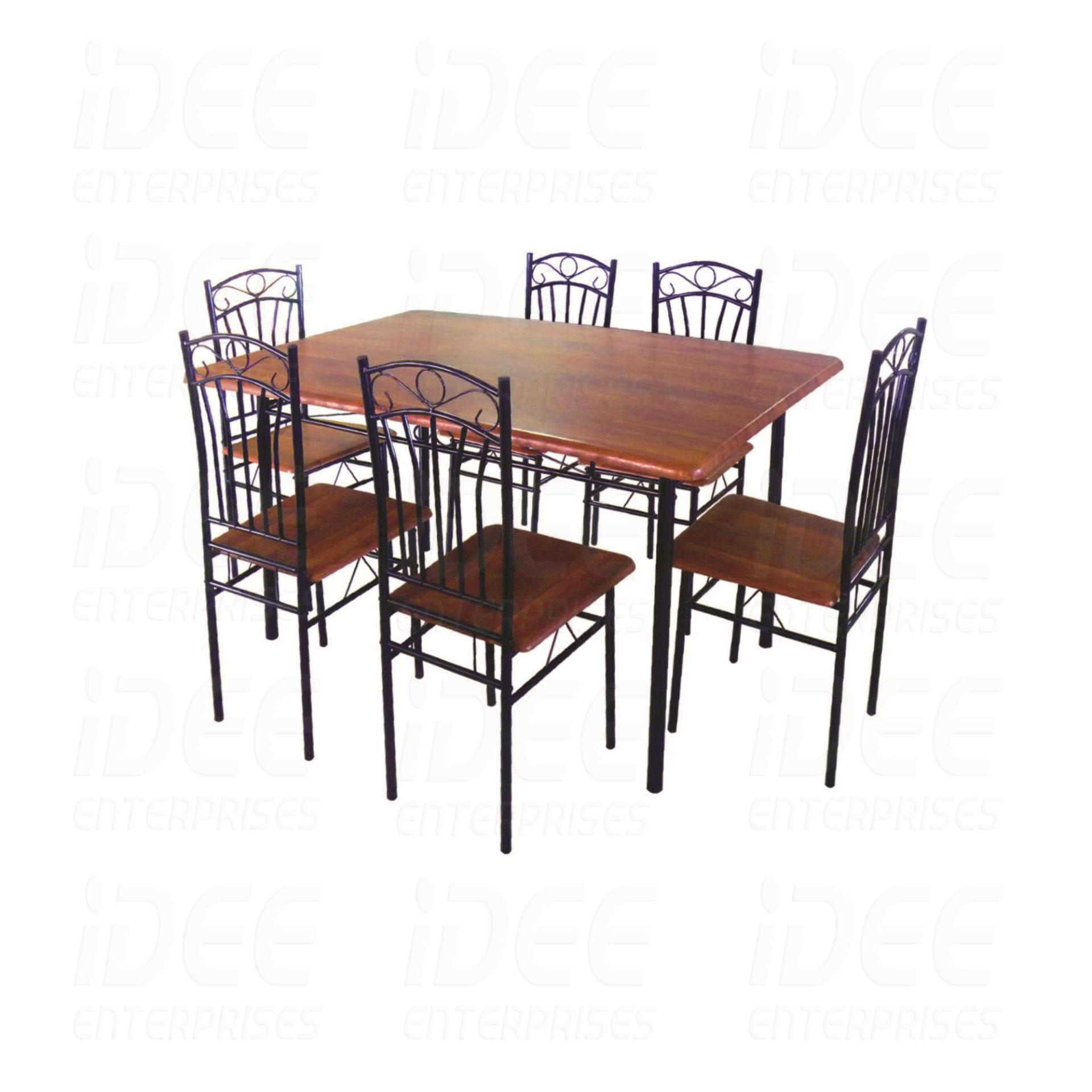 Tailee DS 022 6 Seater Dining Set (Coffee)