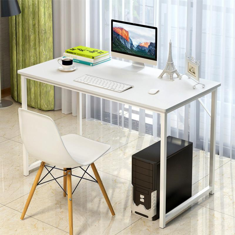 Clifton Minimalist Computer Table 100 55cm White Willow
