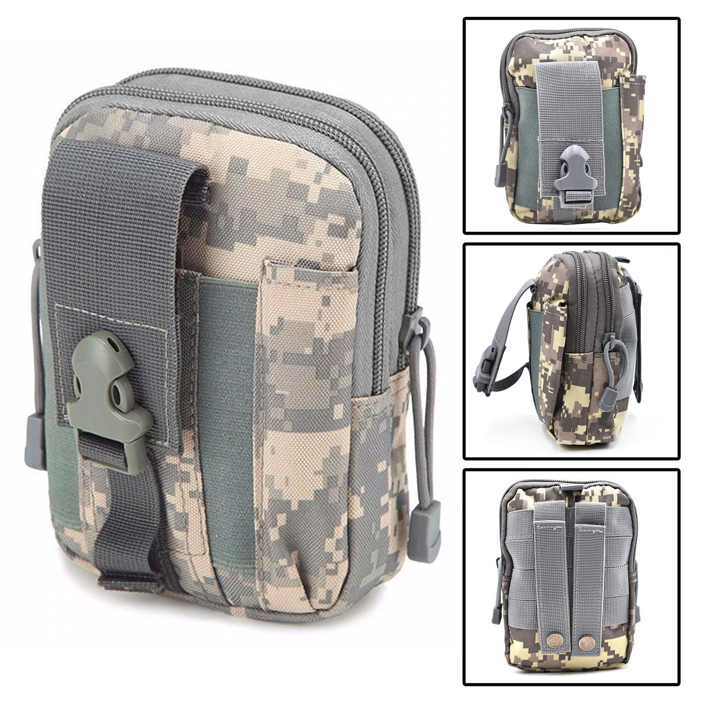 d9bcaa07dfe3 Military Tactical Waist Bag Army Molle System Phone EDC Tool Pocket Bag