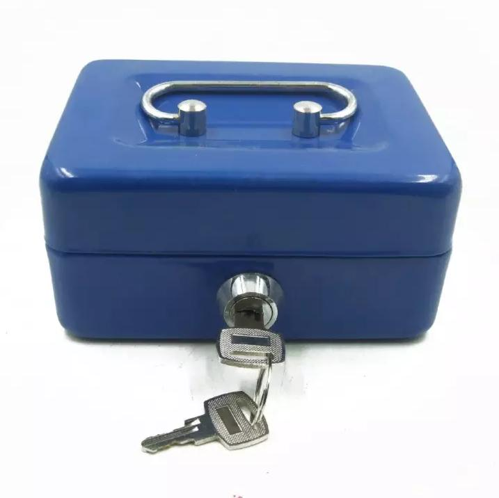 Cash Box Portable Money Secret Security Safe Lock Metal