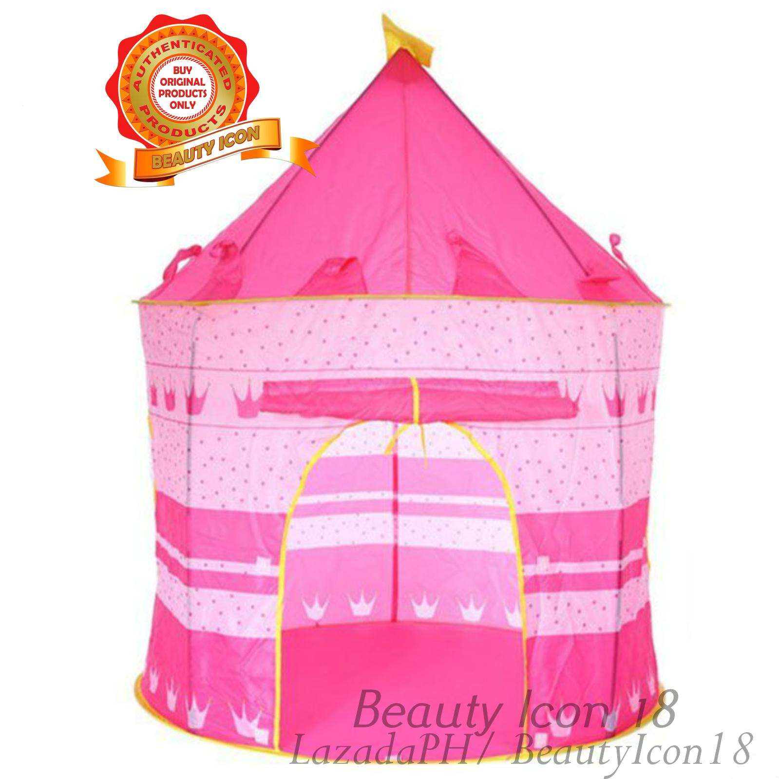 Tent For Kids Part - 23: Portable Folding Kids Play Tent Cubby House (Pink)