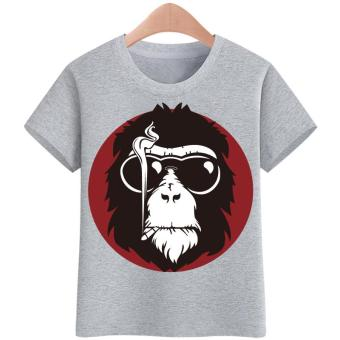 3-16yrs Tshirt for kids ape t shirt Boy's T-shirt Girls Cartoon Pattern T-shirt Children Summer Short Sleeves 100% Cotton Tee Tops Cloth Kids Tshirts
