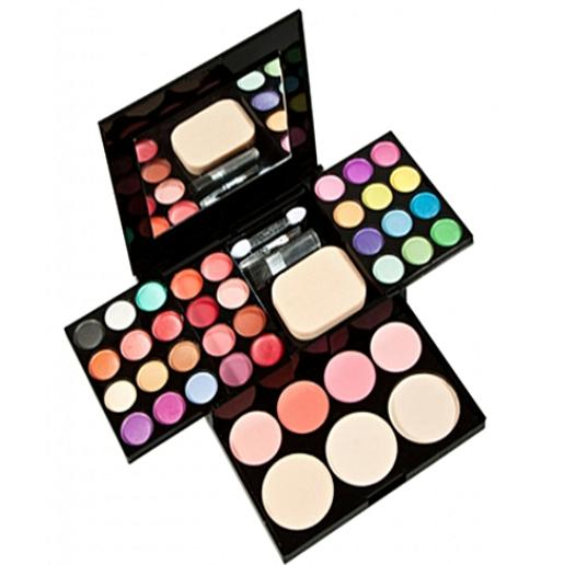 ADS Fashion Eyeshadow Palette Eye shadow+Lip Gloss+Blush Makeup Powder Palette+Puff Brush Pen Tool Make Up Kit Set Philippines