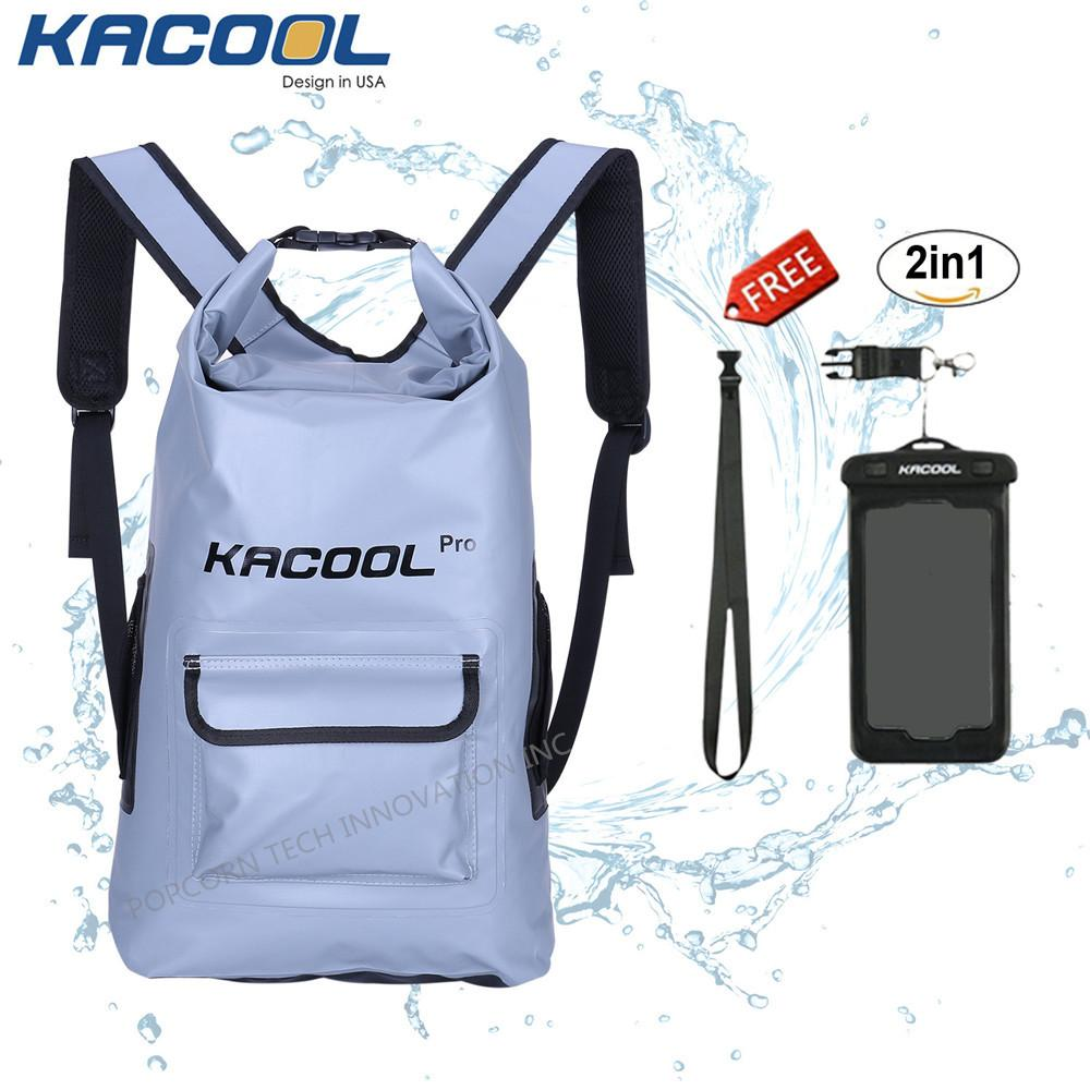 04c7514ed22 Kacool Pro Waterproof 25L Beach Dry Bag Hiking Backpack School Bag with  free Waterproof Mobile Phone