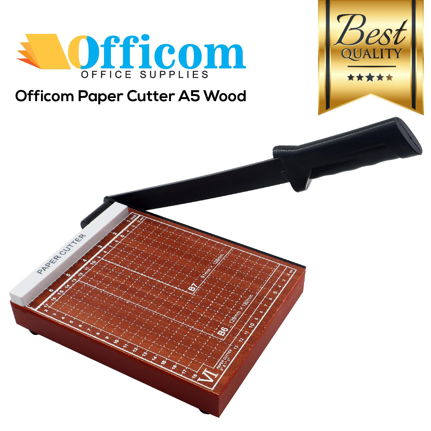 Officom Paper Cutter Wood A5 By Crystal Image.
