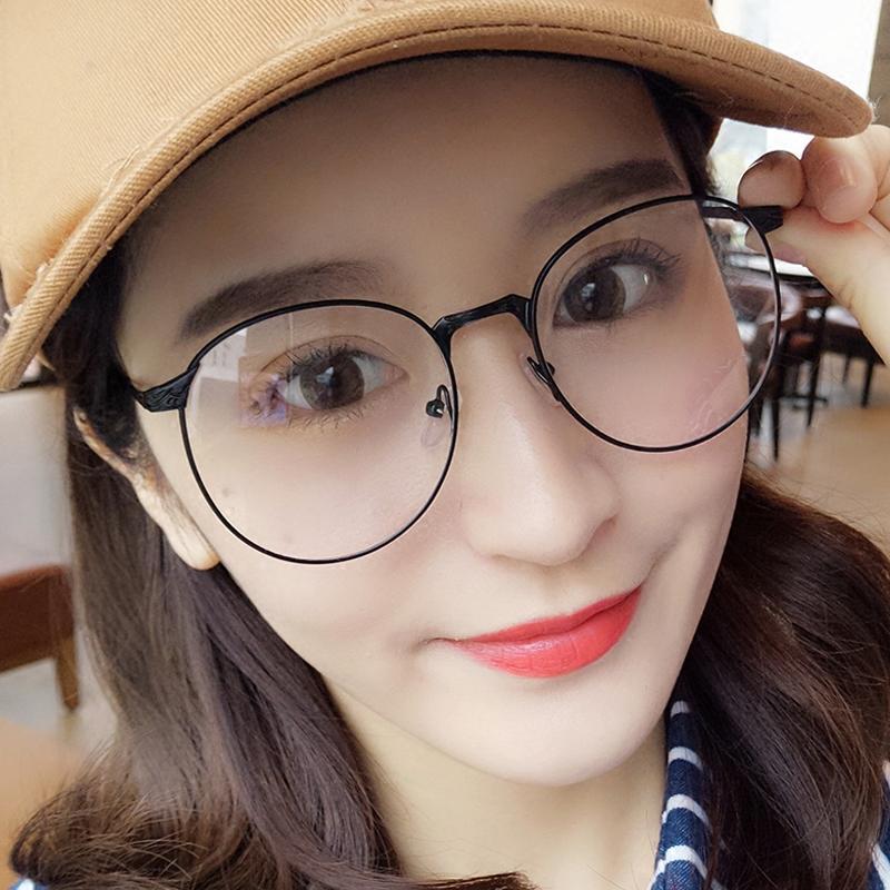 308c5eabd2c Retro Glasses Frame women Korean Style Circle round Face Big Box Eyeglasses  Fixing Device Full Frame