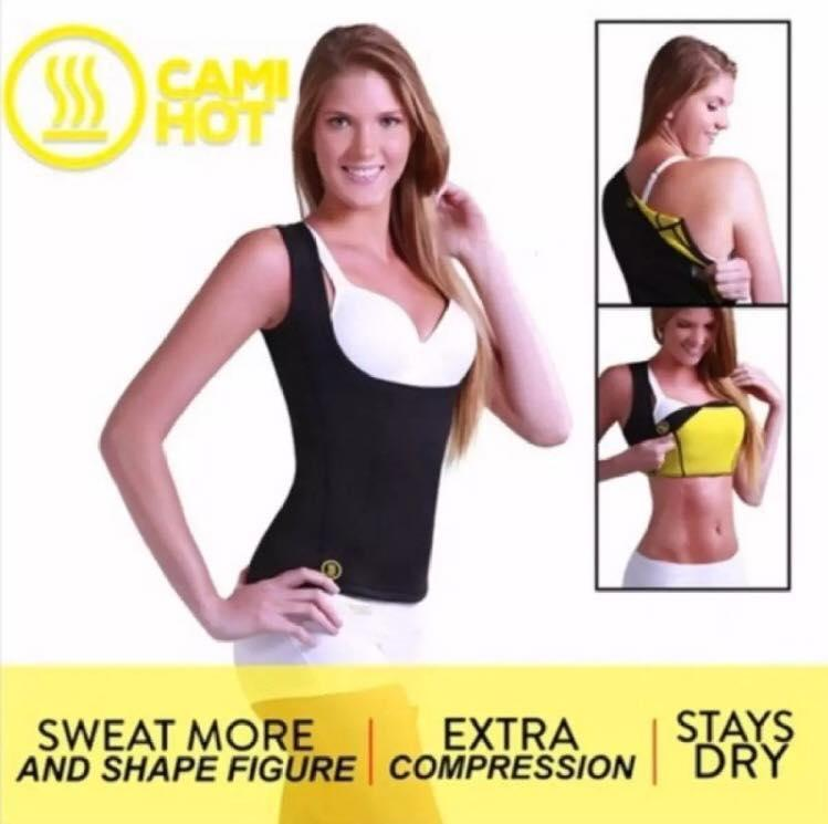 310fdc4dceb4e Hot Shapers Women s Cami Hot Belly Fat Burn Sauna Shirt. Seamless Slimming  Body Shaper for