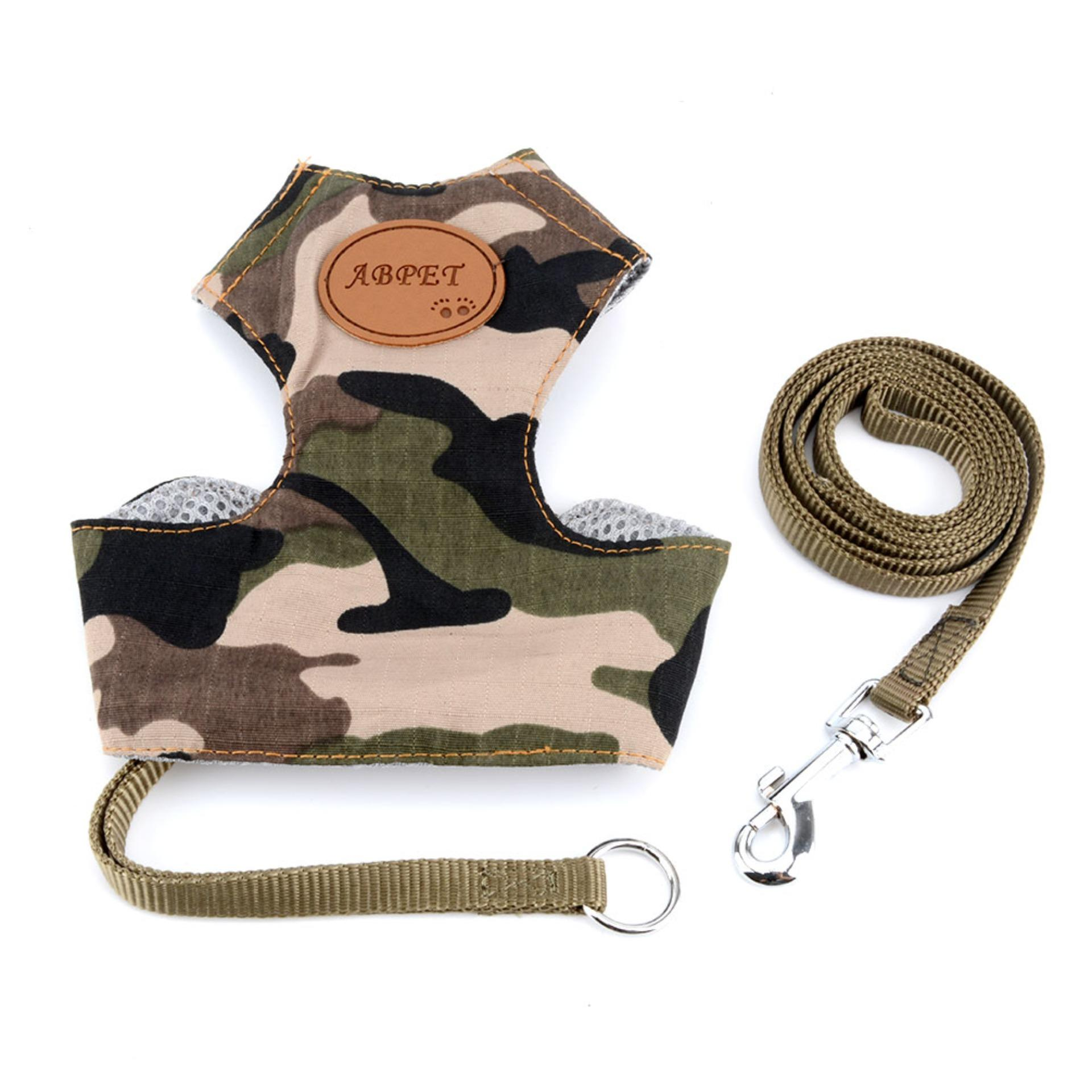 Pet Soft Mesh Dog Harness Pet Walking Vest Camo Padded Harnesses Adjustable Comfort Control Dog Walking Harness Green Xxl - Intl By Selmai.