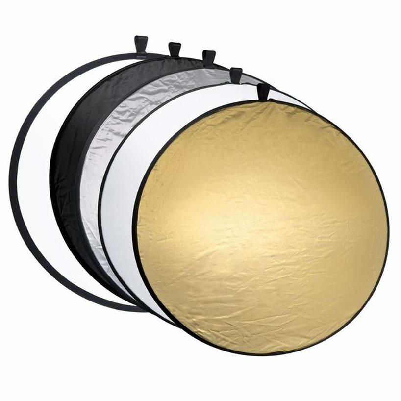 2a7e177708ba 5 in 1 Portable Collapsible Round 60cm Camera Lighting Photo Disc Reflector  Diffuser Kit with Carrying