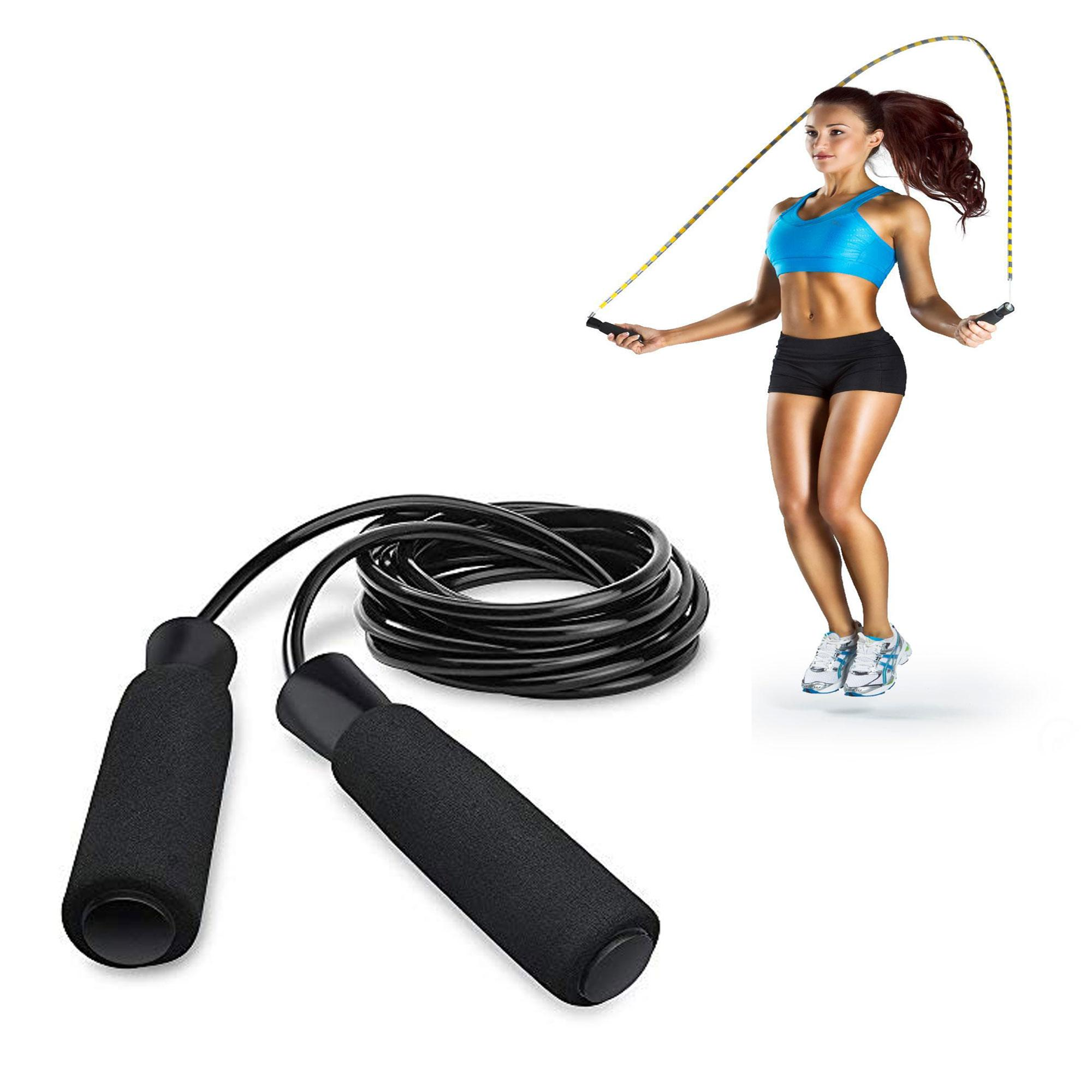 Exercise Tool Boxing Skipping Jump Rope Adjustable Bearing Speed Fitness (black) By Gonzalez General Merchandise.