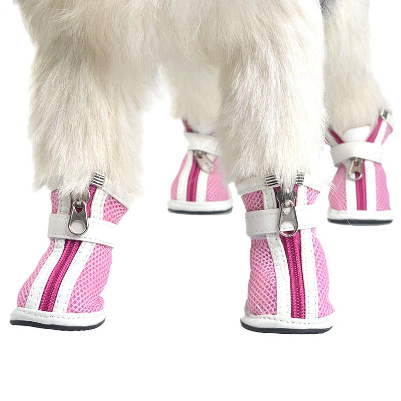 Shoe Fits Pet Dog Zipper Shoe Tidy Cats Bichon Booties Small And Medium-Sized Dogs Shoe Cover Breathable Mesh Shoe By Taobao Collection.