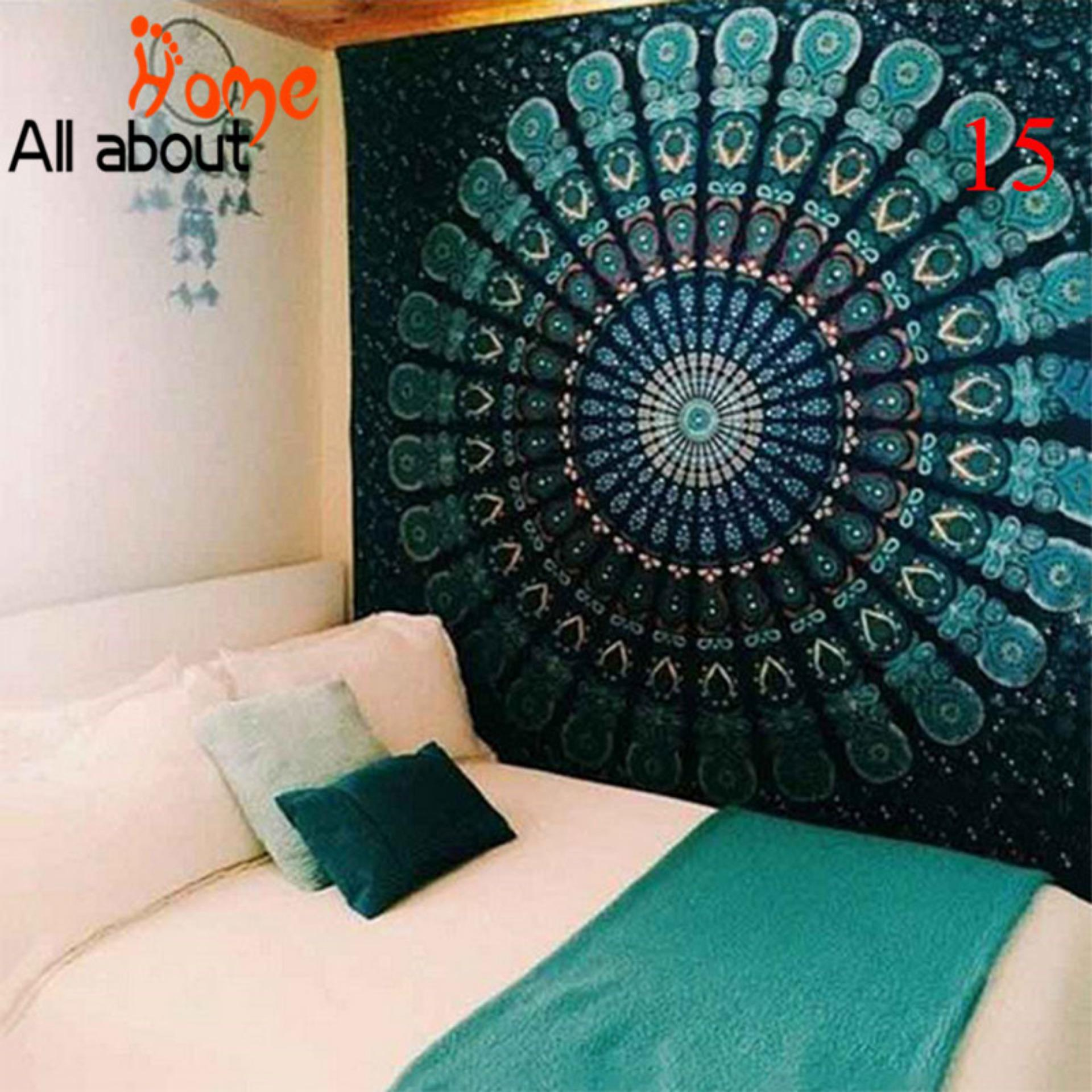Indian Colorful Printed Mandala Beach Tapestry Bohemia Blanket(color:15,size:m) - Intl By All About Home.