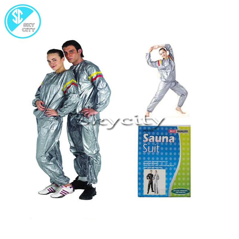 6c27c880f2 skycity Sauna Suit 5 size (Grey) for men & women