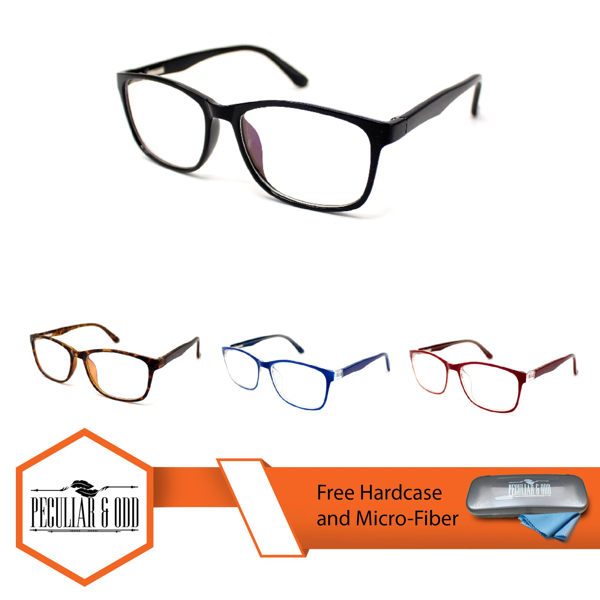 8915f63683 Peculiar Square Multicoated Eyeglass 2018 Replaceble Clear Lens with Spring  Hinges Unisex Optical Frame