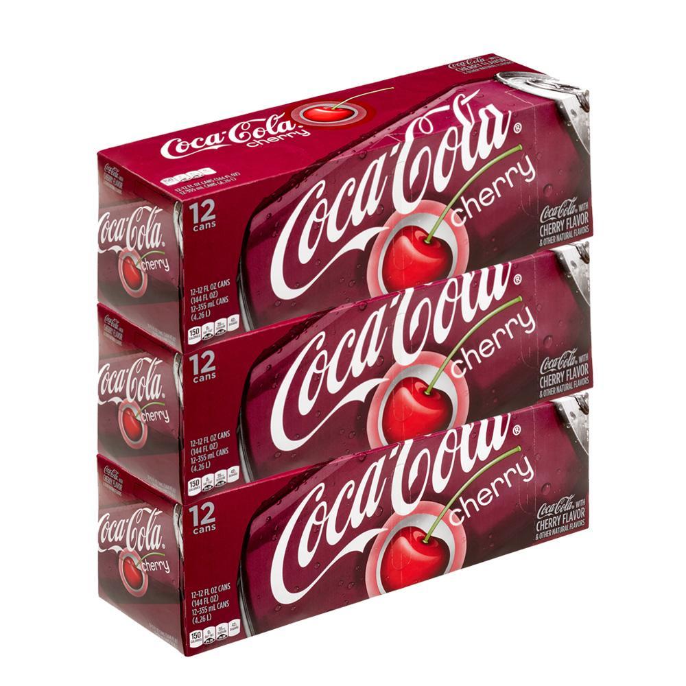 Coca-cola Coke Cherry 3 Pack (12s per pack)
