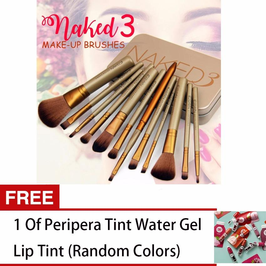 12 pcs Professional 3 Power Makeup Brushes FREE 1 Peripera Tint Water Gel Lip Tint (Random Color) Philippines