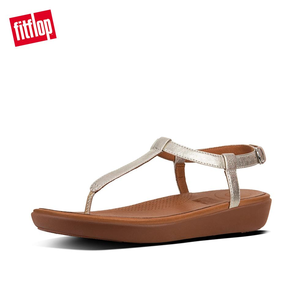 a516e2e688547 Fitflop Women's Sandals L36 TIA TOE-THONG SANDALS - LEATHER LEATHER CASUAL  lightweight comfort fashion New