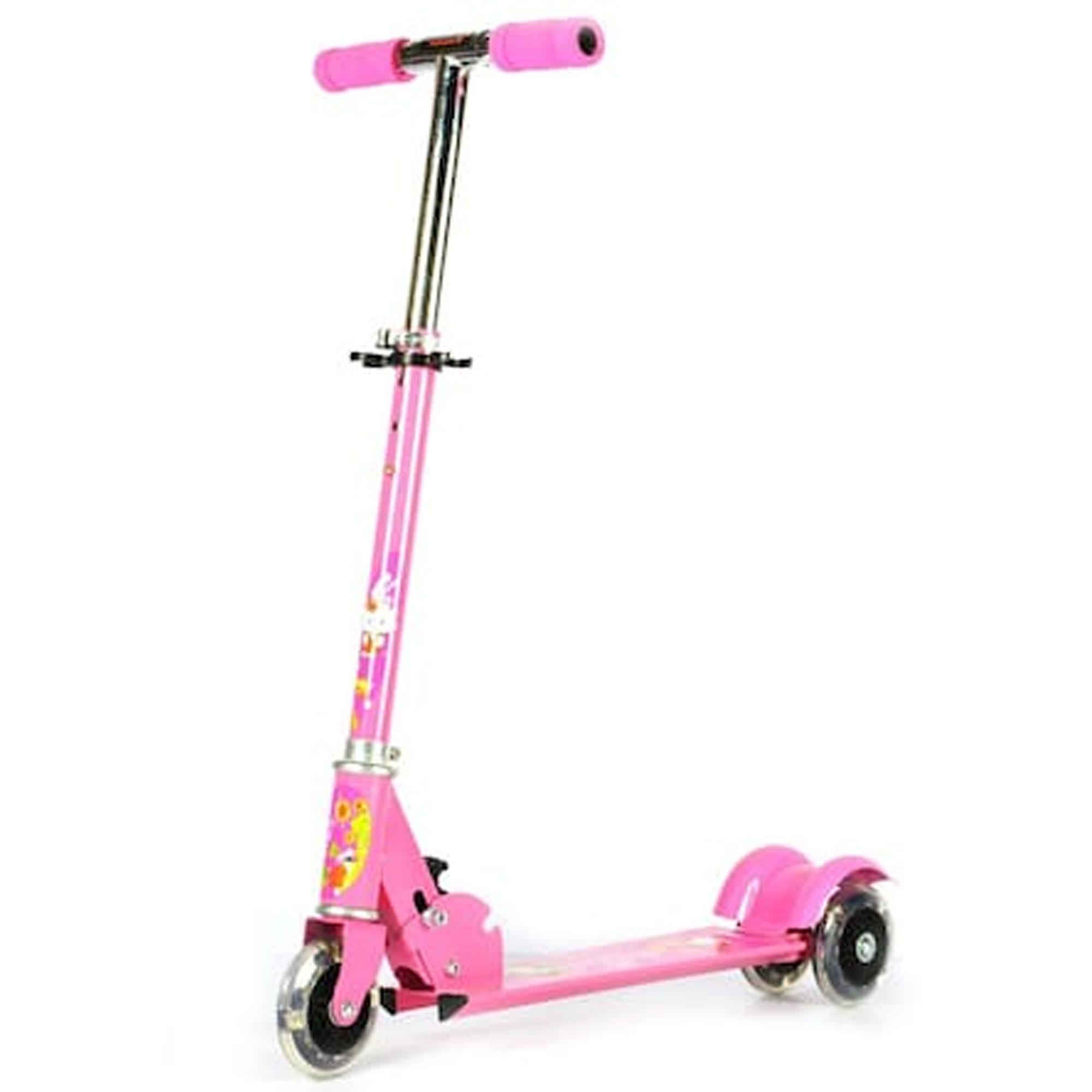 3 Wheels Kick Riding Kid Scooter (pink) By Gonzalez General Merchandise.