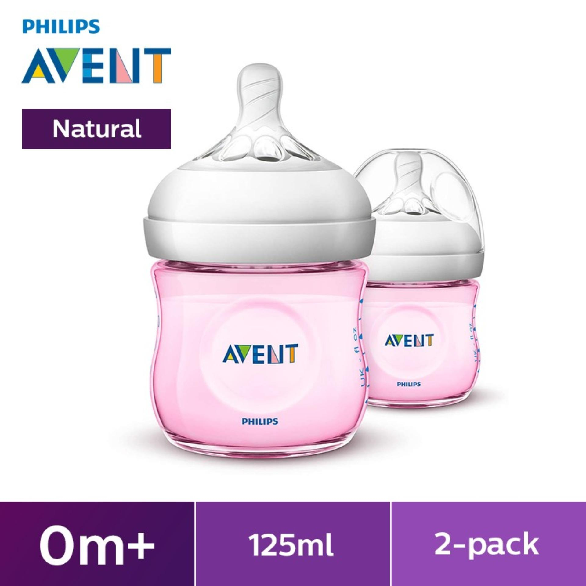 Philips Avent Natural 4oz Bottle Twin Pack - Pink By Lazada Retail Philips Avent.