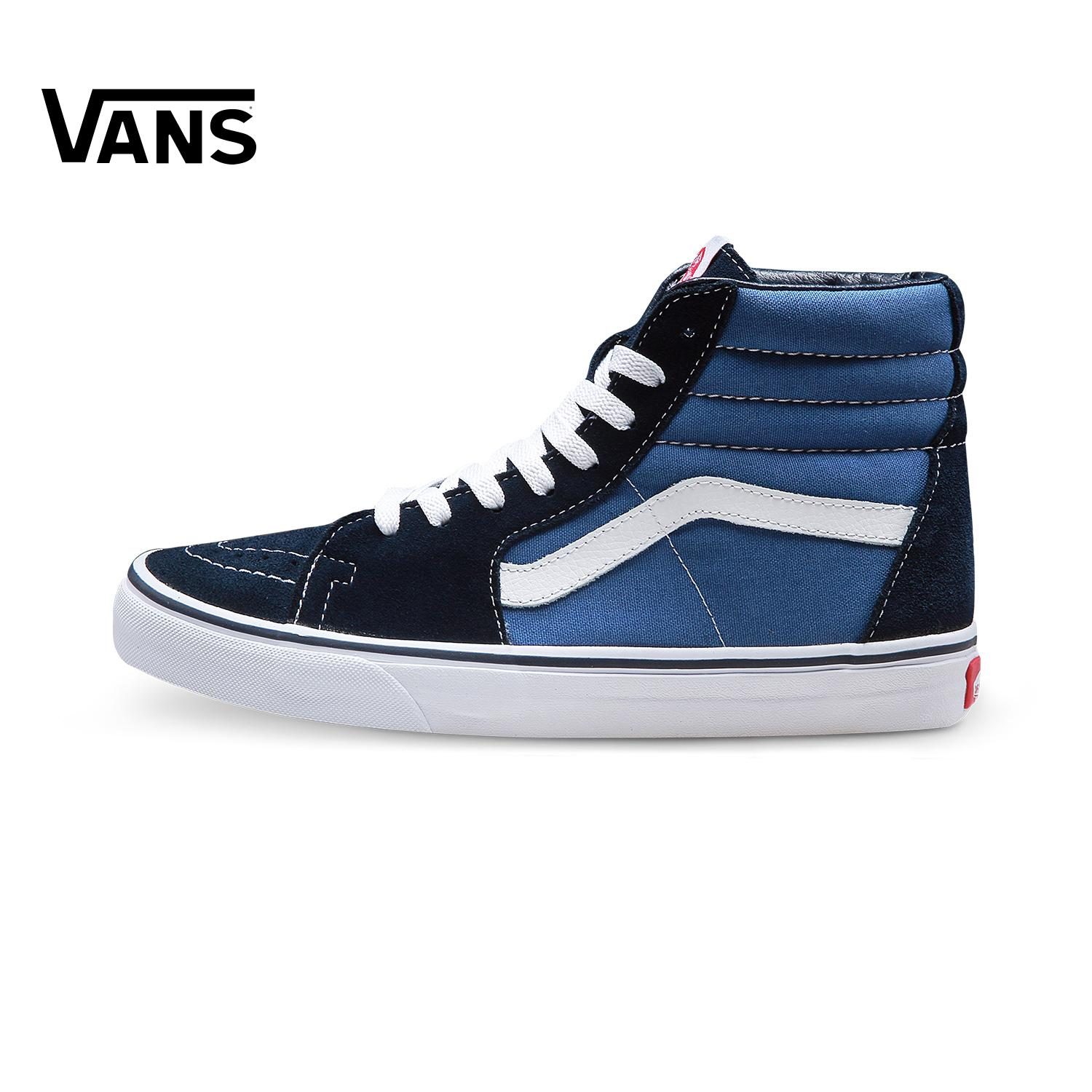 160e4ccb7c Vans Men s Shoes women Shoes Couple s Hight-top Sk8-Hi Classic Style Navy  Skateboard
