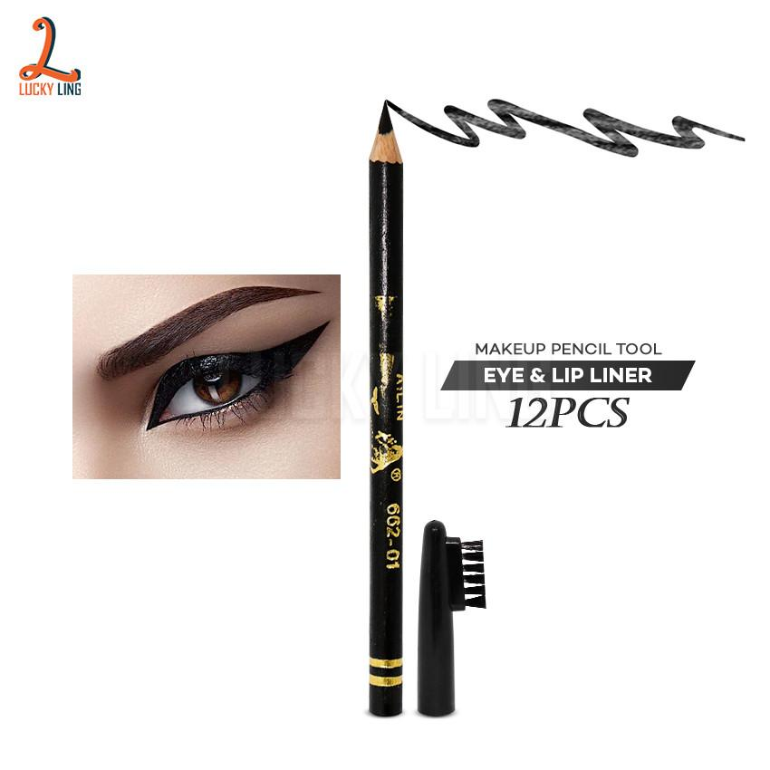 12Pcs Ailin Eye Liner Pencil w/ Brush (15 inch) Philippines