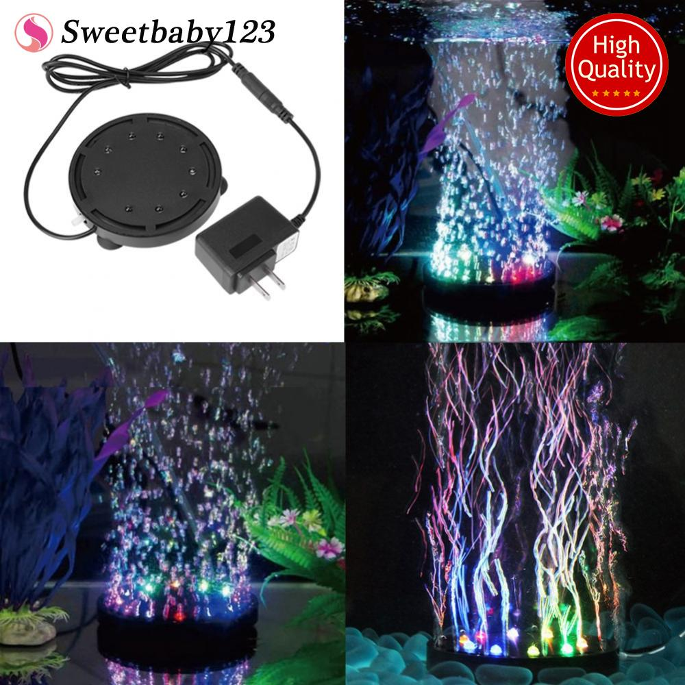 12 Led Light Submersible Bubble For Aquarium Fish Tank Pump Decor 10.5cm Us - Intl By Sweetbaby123.