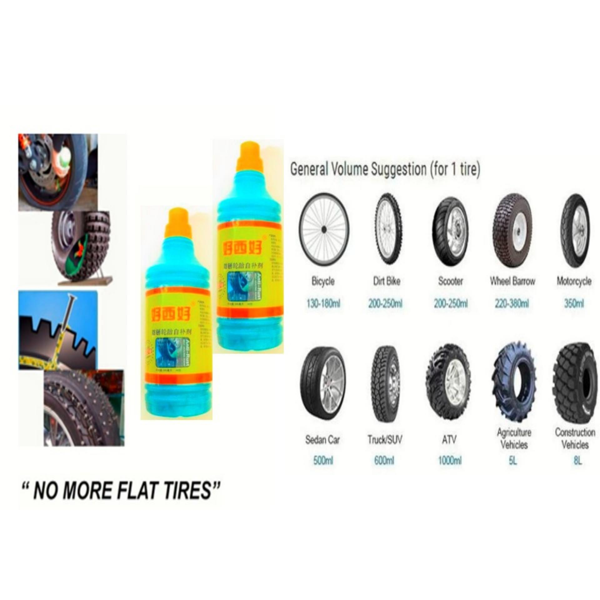 2 Pcs 500 Ml Car / Motor Tire Seal Tyre Sealant  No More Flat Tires Proven & Tested By Golden Fortune Corp..