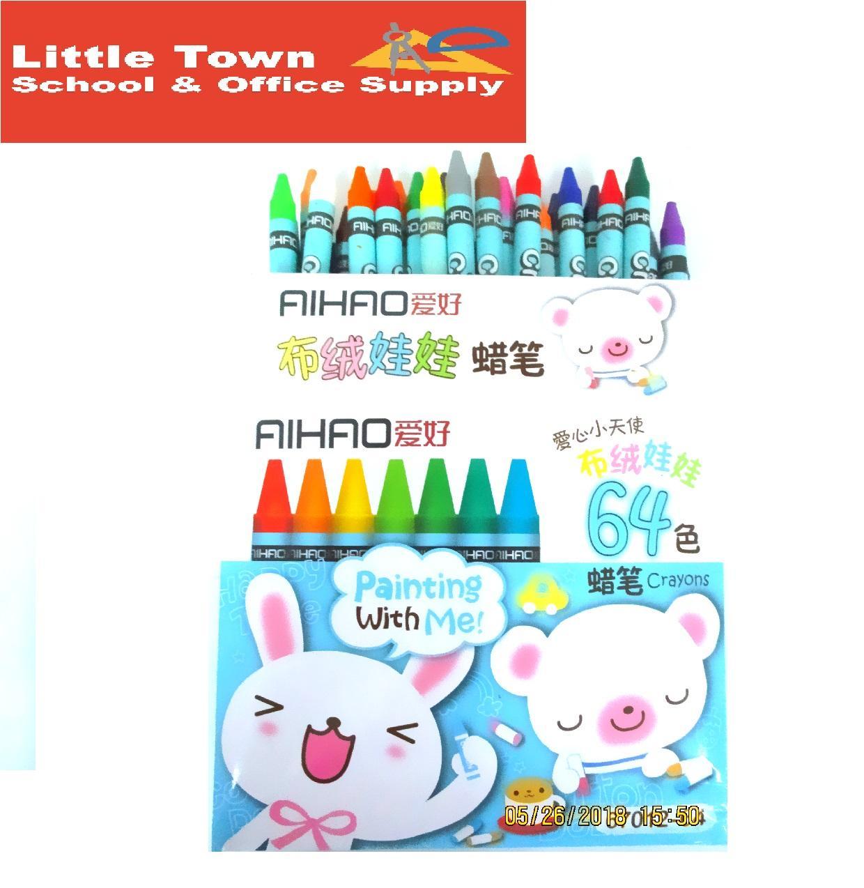 AIHAO Kids Crayons 64 Assorted Colors 8mm