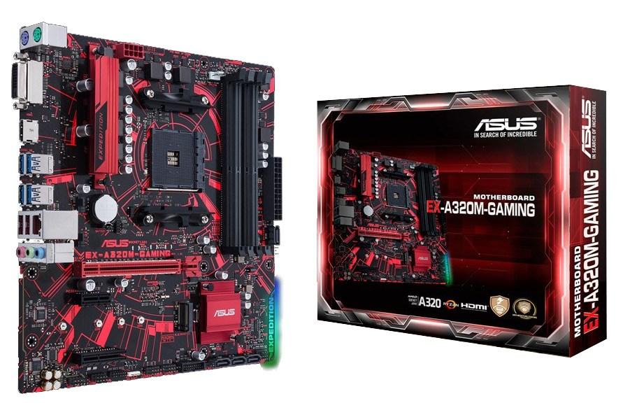 Asus Ex-A320m Gaming Motherboard Socket Am4 Ddr4 By Easypc.