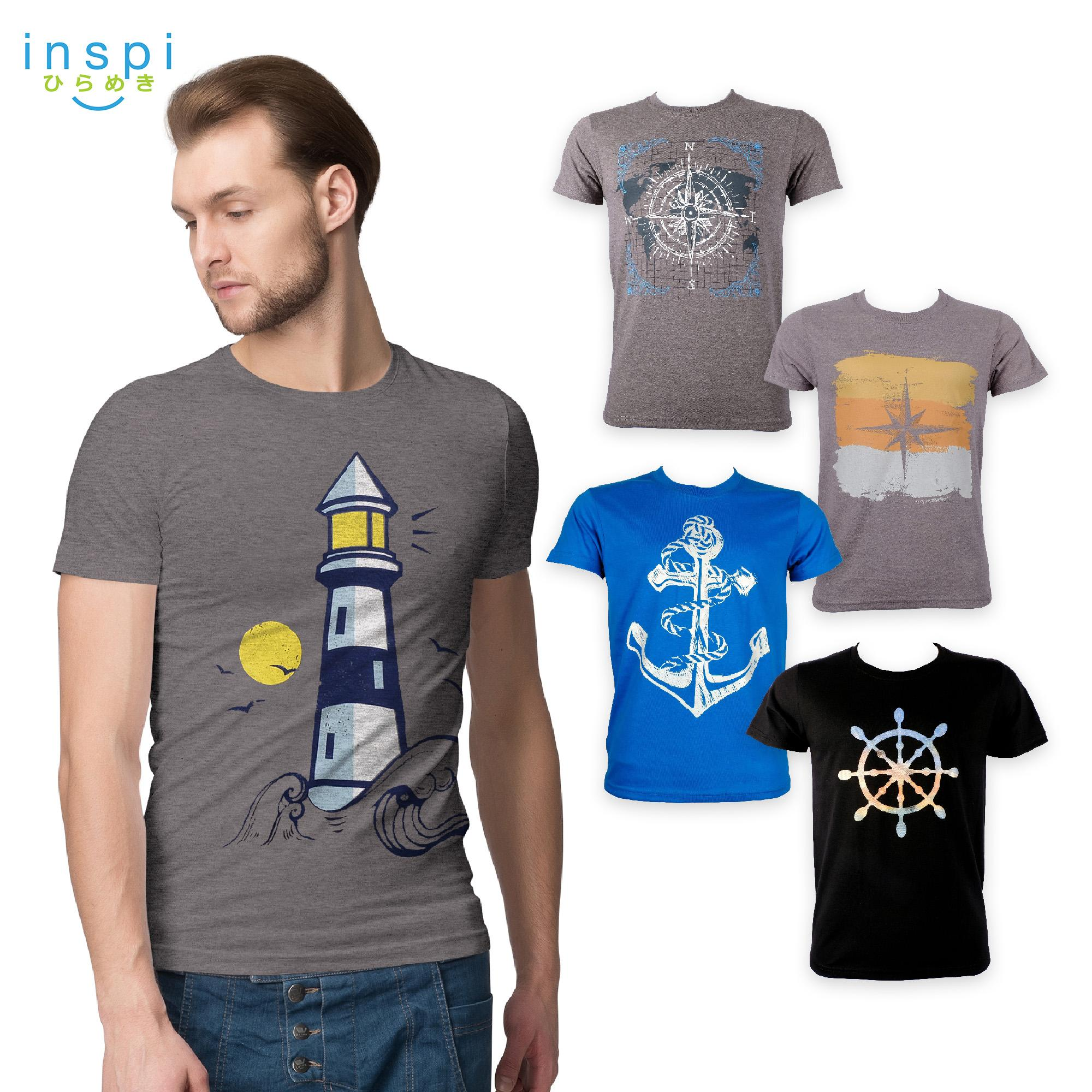 ee4260f9fdd8 INSPI Tees Navigate Collection tshirt printed graphic tee Mens t shirt  shirts for men tshirts sale
