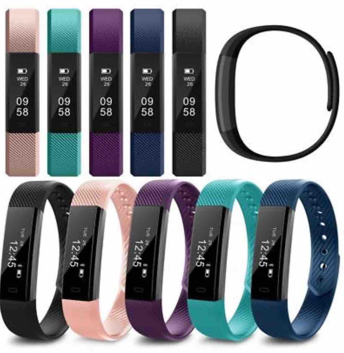 Gloryworld Replacement Silicone Smart Bracelet Band Wrist Strap for Veryfit  ID115/Lite/HR