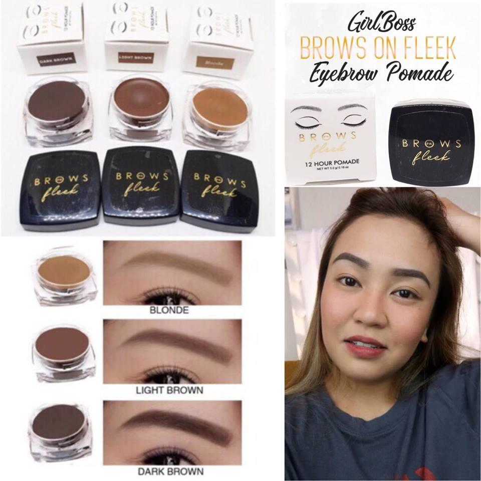 Brows On Fleek 12-Hour Pomade by Girl Boss with FREE DUO BRUSH (NEW IMPROVED FORMULA) Philippines