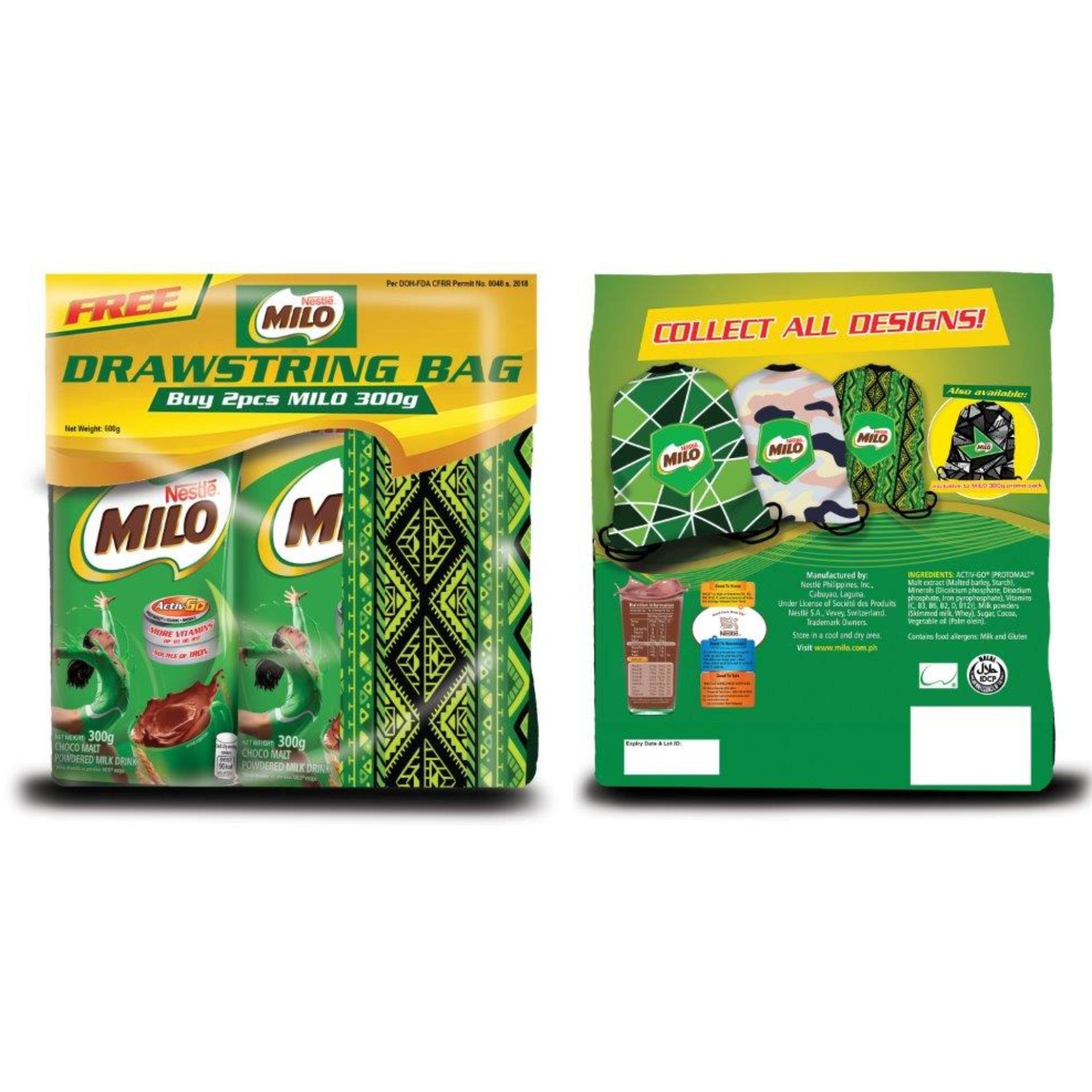 Milo Philippines Price List Nutri Up Chocolate Energy Drink Sachet Champion 300g Pack Of 2 Free Drawstring Bag